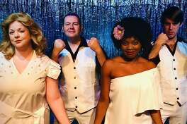 "Emily Gray, Jayson Beaulieu, Erica Whitfield and Dan Frye appear in ""8 Track Sounds of the 70s"" at the Connecticut Cabaret Theatre."