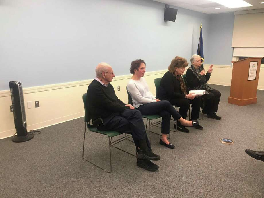 (Left to right) Peter Lilienthal, Susan Unrad, Sari Jaffe and Elissa Kaplan, who made up the panel at the Holocaust Remembrance event. Photo: / Josh LaBella