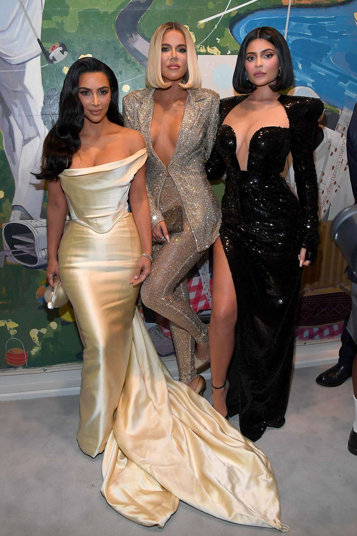 Kim Kardashian West, Khloe Kardashian and Kylie Jenner attend Sean Combs 50th Birthday Bash presented by Ciroc Vodka.
