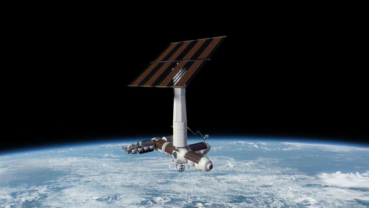 Pictured is a rendering of the Axiom Space commercial space station.