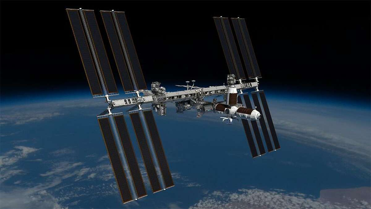 Pictured is a rendering of the Axiom Space commercial space station attached to the government-run International Space Station.