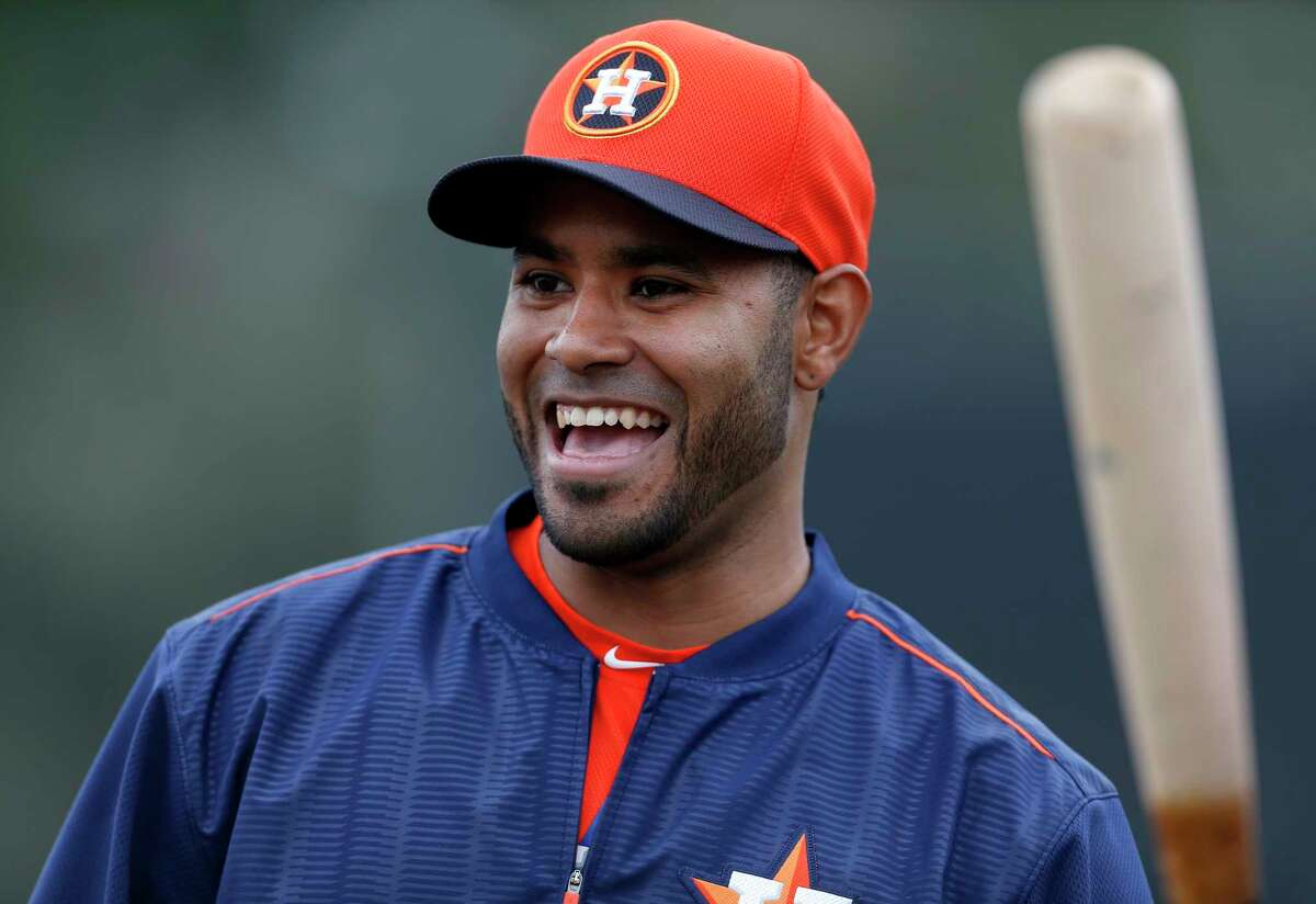Infielder Gregorio Petit played 37 games for the Astros during the 2014 season.