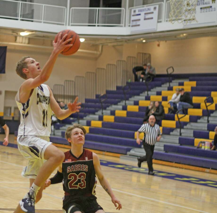 Manistee boys basketball notched a 45-33 non-conference win over Traverse City Christian on Tuesday. Photo: Kyle Kotecki/News Advocate