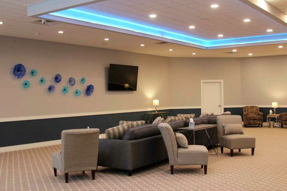 Beacon Cremation and Funeral Services is a modernized funeral home with lots of space for funeral services and reception. (Photo/Colin Merry)
