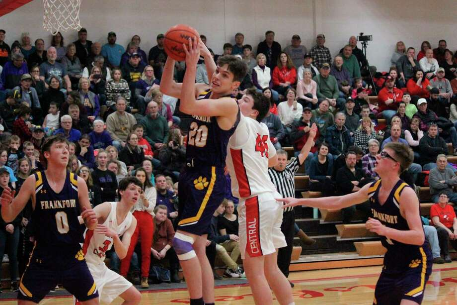 Connor Lamerson come down with a rebound for the Panthers. (Photo/Robert Myers)