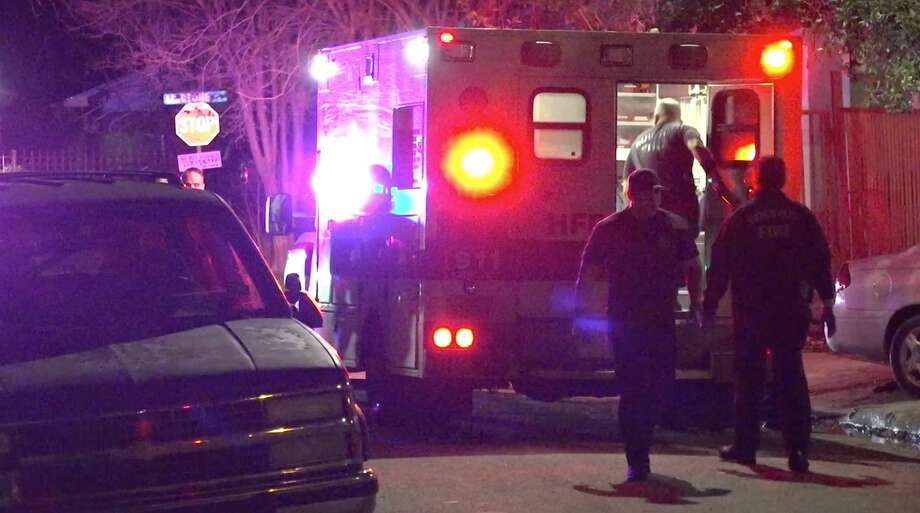 Houston police investigate a shooting in the 2400 block of Lidstone on Tuesday, Jan. 28, 2020. Photo: OnScene.TV