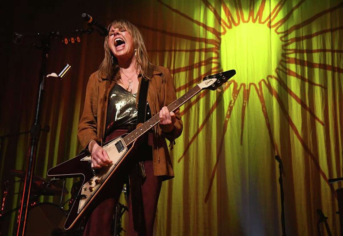 """Singer, songwriter and multi-instrumentalist Grace Potter is shown rocking out for a packed house of fans at the College Street Music Hall in New Haven Jan. 28, 2020. Grace and her band are on a U.S. tour in support of her new album, """"Daylight."""" Grace released her debut solo record """"Original Soul"""" back in 2004 via Grace Potter Music. Grace Potter and her band the Nocturnals parted ways in 2015, just before the release of her solo album, """"Midnight."""" In 2011, Potter and Higher Ground founded the """"Grand Point North Music Festival"""" in Burlington, Vermont. The annual music festival celebrates local acts, promotes area businesses and has attracted national performing artists, including Kenny Chesney, Jackson Browne, The Avett Brothers, Trey Anastasio, Nathaniel Rateliff, The Flaming Lips, Gov't Mule and more. To learn more about Grace's next Grand Point North Music Festival, visit www.grandpointnorth.com"""