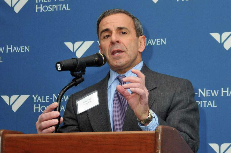 Michael J. Freda, North Haven first selectman, speaks during the opening ceremony of a new Yale New Haven Hospital North Haven medical center in 2012. Photo: File Photo