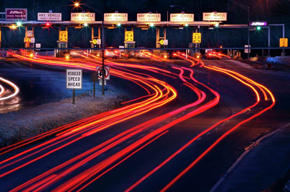 Traffic slows for the York tolls on the Maine Turnpike, in a file photo.