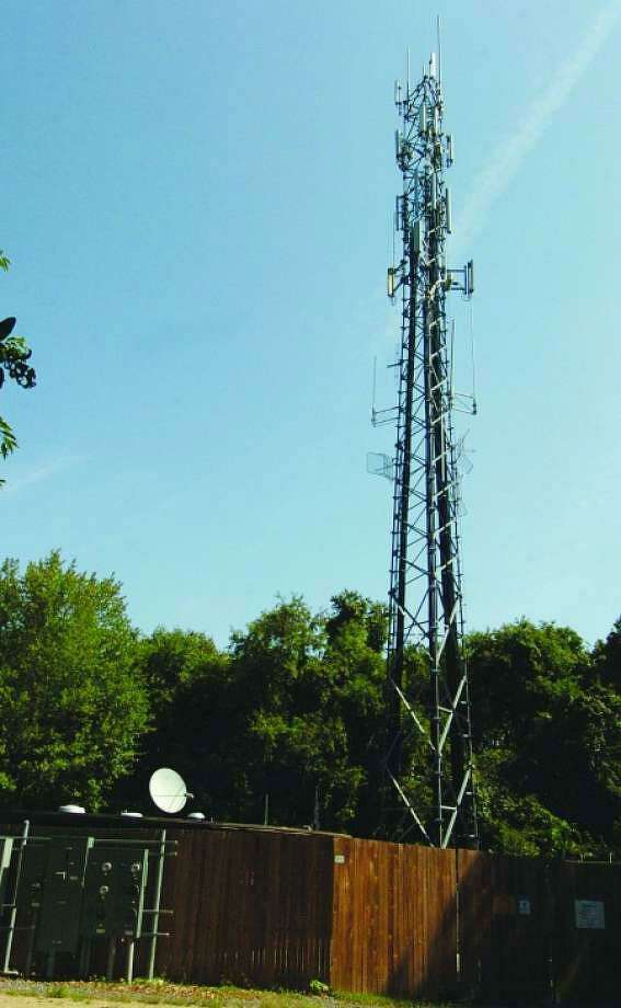 A cell tower off Deer Run Road in Wilton. Photo: Alex Von Kleydorff /Hearst Connecticut Media / Wilton Bulletin
