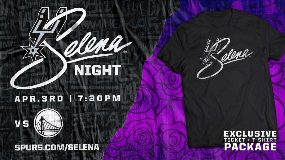 The Spurs are hosting the first-ever Selena night on April 3, just a couple of weeks before the Queen of Tejano's birthday, when the Golden State Warriors are in town. The night is jam-packed with exclusives, highlights and opportunities Selena and Spurs fans.  Photo: Courtesy, Spurs Sports And Entertainment