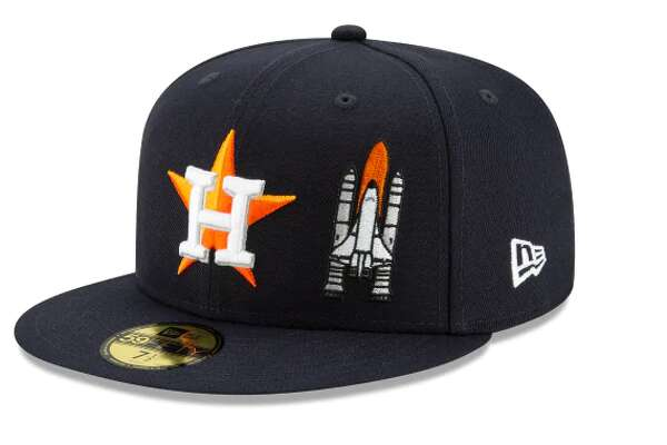 "Houston Astros (Front - Space Shuttle)New Era's ""Team Describe"" hats have logos on the front and the back that are supposed to represent each tam's city."