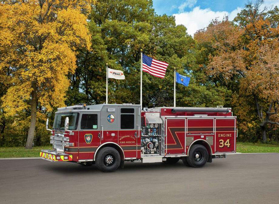 In November 2019, the city of Missouri City received a Pierce Enforcer fire truck from Pierce Manufacturing. The city of West University has approved a contract for a new truck to join its list of trucks. Photo: Courtesy Of Pierce Manufacturing