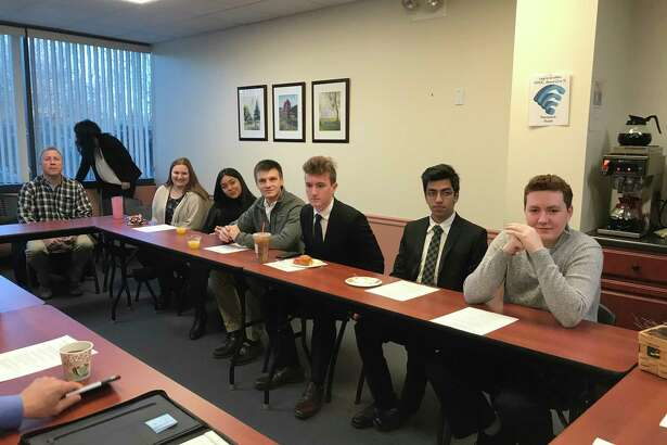 Shelton High School seniors Allison Dapp, Dajanise Martinez, Spencer Keith, James Baklik, Siggharth Jain and Chris MacDonald recently shared their internship experiences.