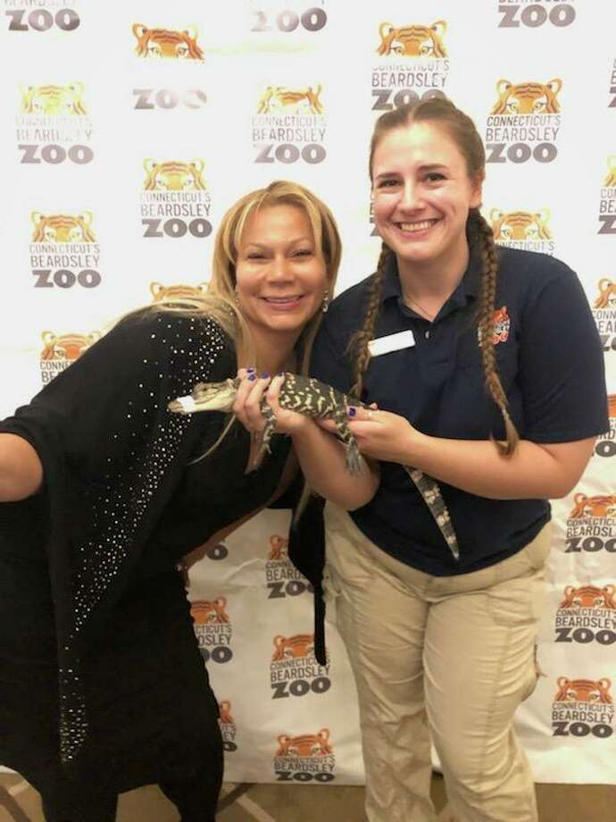 Connecticut's Beardsley Zoo was selected to receive 15% of proceeds from wine sales from Fairfield-based Ardaso Wine. The company's CEO, Sonja Narcisse, left, named the zoo as a recipient of the company's corporate giving program beginning in January 2020, according to a news release. Photo: Connecticut's Beardsley Zoo / Contributed Photo