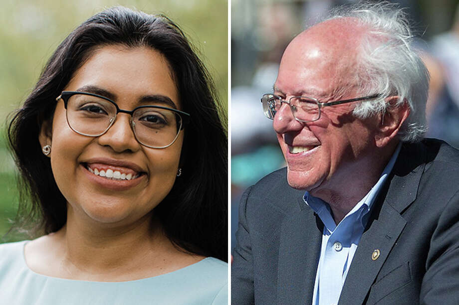 Hnery Cuellar's primary challenger Jessica Cisneros has announced another high-profile endorsement, this time from Vermont Senator and Presidential candidate Bernie Sanders. Photo: Courtesy