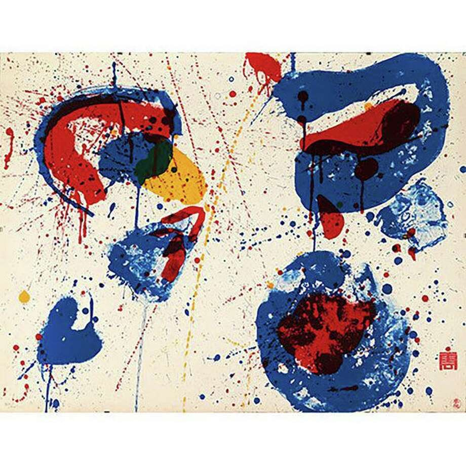 """In Plain Sight: The Library Print Collection"" will feature a total of 35 selected print works, including: Sam Francis' abstract splatters in ""Hurrah for the Red White and Blue."" Photo: Www.flinngallery.com"