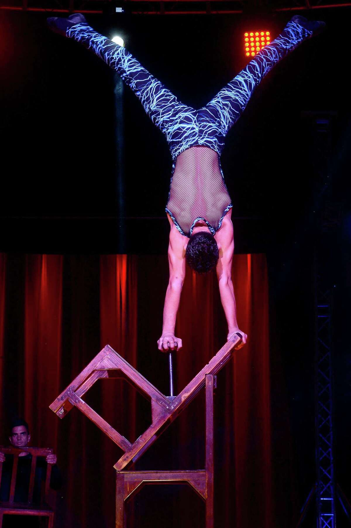 Performers entertain the crowd during the Garden Brothers Circus opening show at Ford Park Arena Friday. Families can enjoy the acrobats, clowns and other acts Saturday, with performances taking place at 1:30, 4:30 and 7:30 p.m. Photo taken Friday, February1, 2019 Photo by Kim Brent/The Enterprise