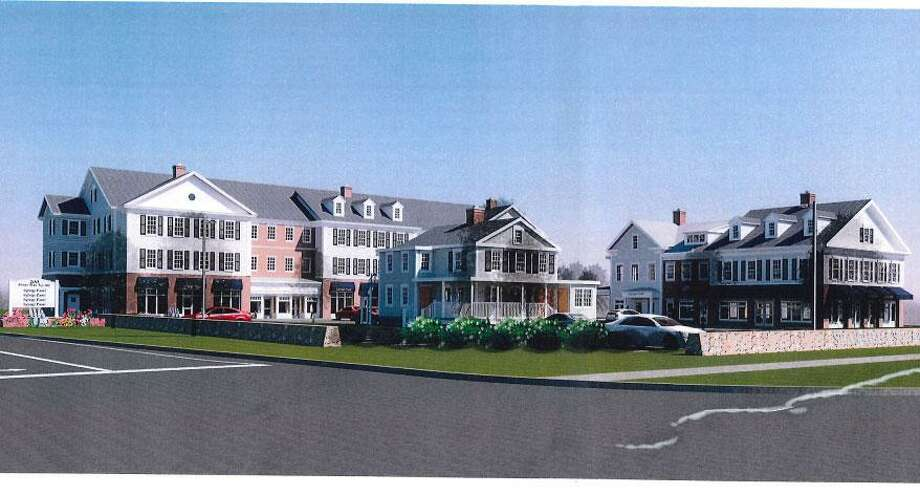 A rendering of the proposed development, Sharp Hill Square. Photo: Contributed Photo / Wilton Bulletin Contributed