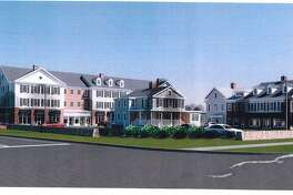A rendering of the proposed development, Sharp Hill Square.