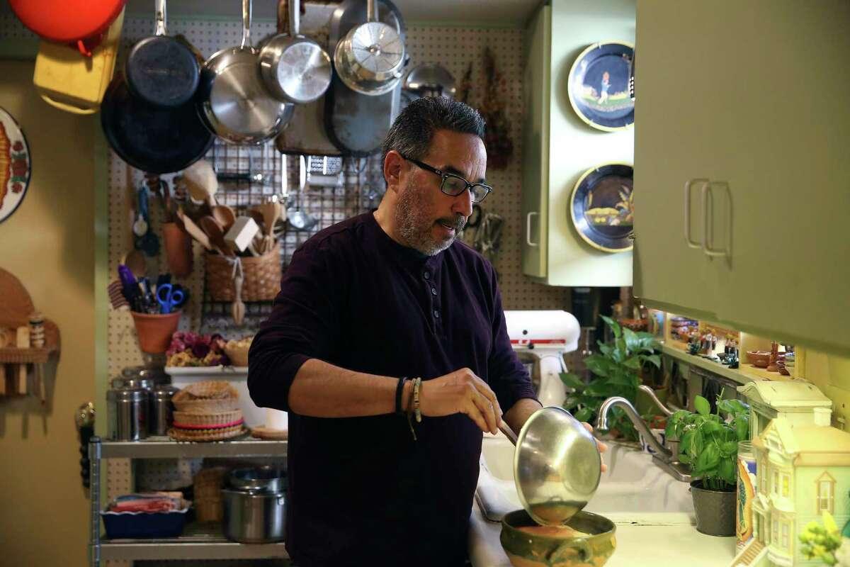 Jon Hinojosa in his kitchen