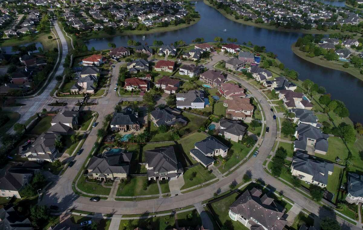 The Shadow Creek neighborhood is a master-planned community in Pearland of Brazoria County, which saw its population grow as Harris County's population declined.