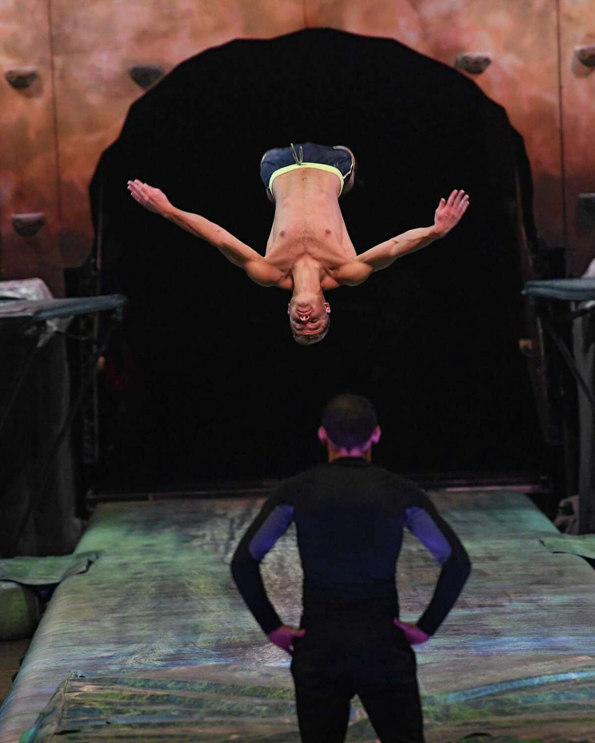 Cirque du Soleil artists prepare to perform OVO at the Times Union Center on Wednesday, Jan. 29, 2020 in Albany, N.Y. (Lori Van Buren/Times Union)