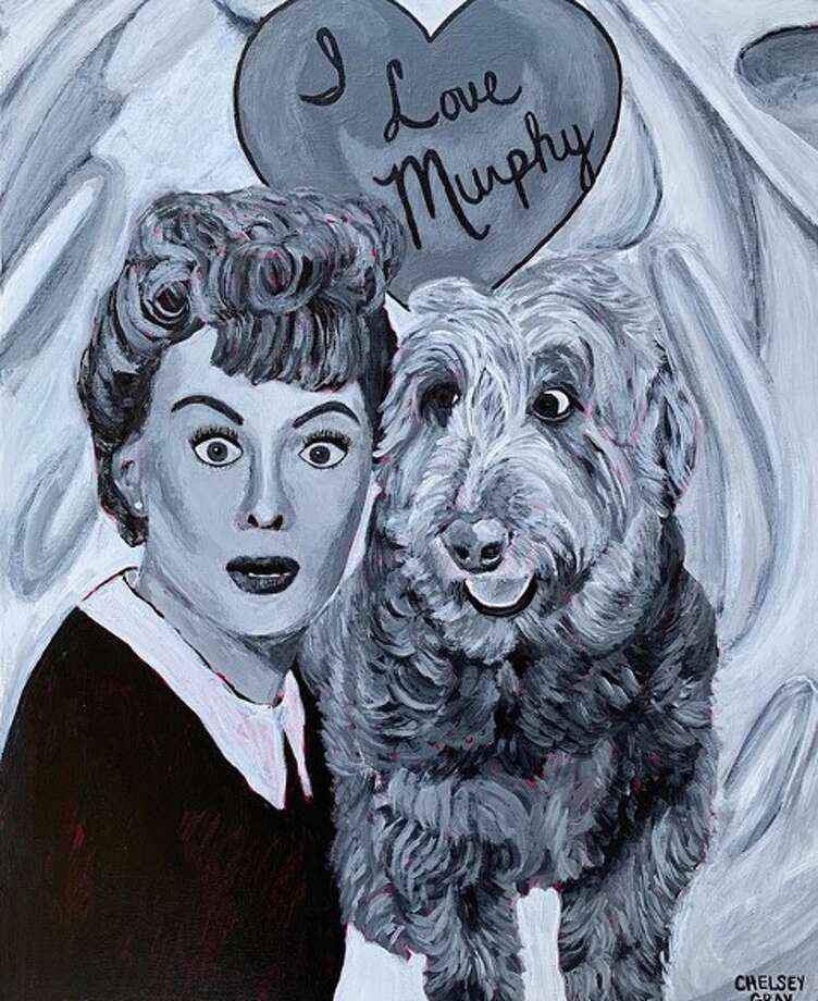 Chesley Gray told mySA.com she started a new art series that has the typical painting of your pet but adds a twist by implementing a singer, rapper, basketball player or any other type of celebrity into the mix. Photo: Instagram: Chelsey Gray Art