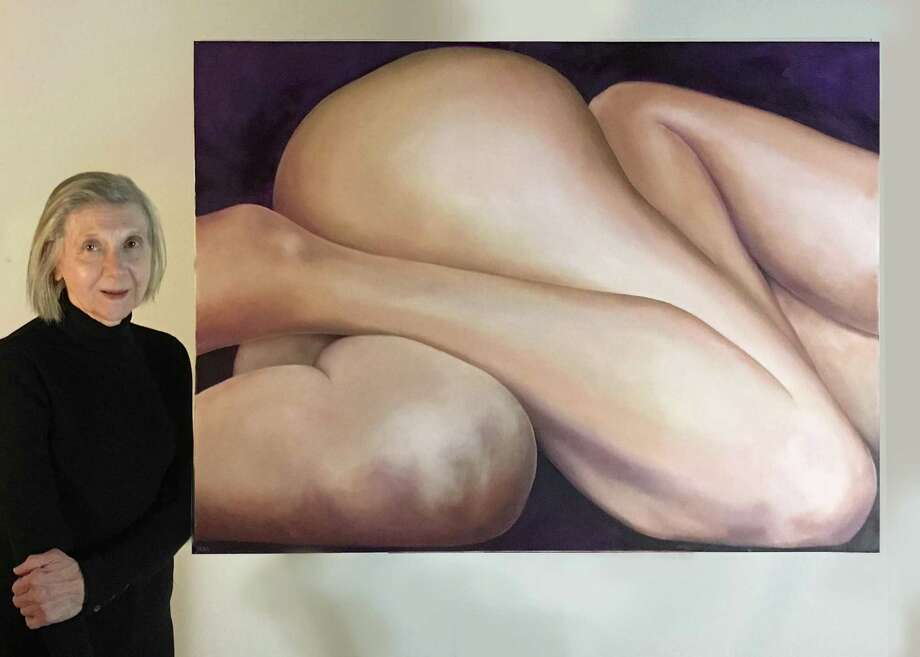 """""""The Figure as Abstract Composition,"""" a solo exhibit of recent paintings by Nancy W. McFarland, will open Sunday and run through Feb. 28 at the Greenwich Art Society's gallery at 299 Greenwich Ave. McFarland, who works from her Westport studio, spent many years studying the human form throughout her career as an illustrator, art director and photographer. Photo: Contributed /"""