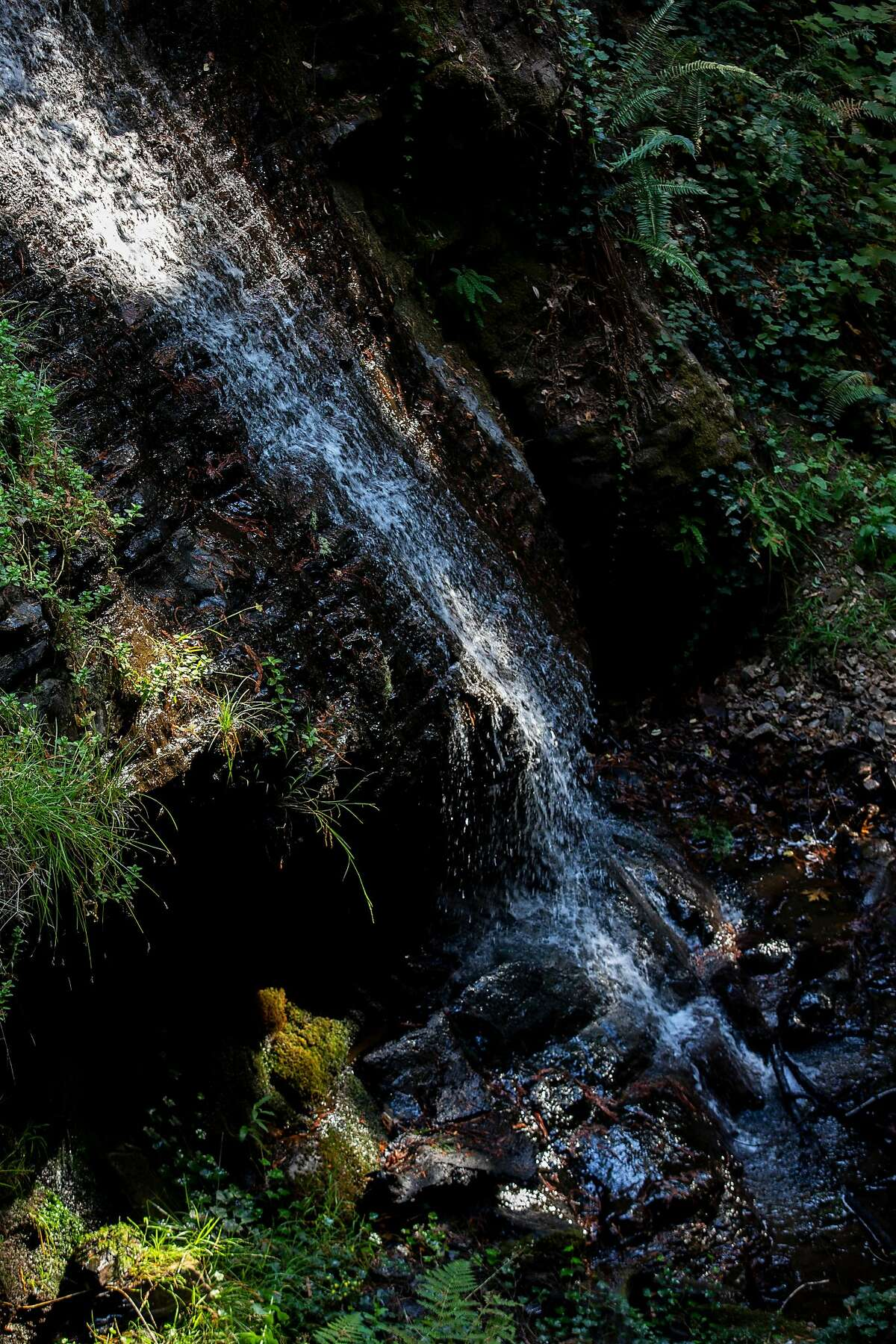 A waterfall at Cascade Ranch on Friday, Nov. 8, 2019, in Pescadero, Calif.