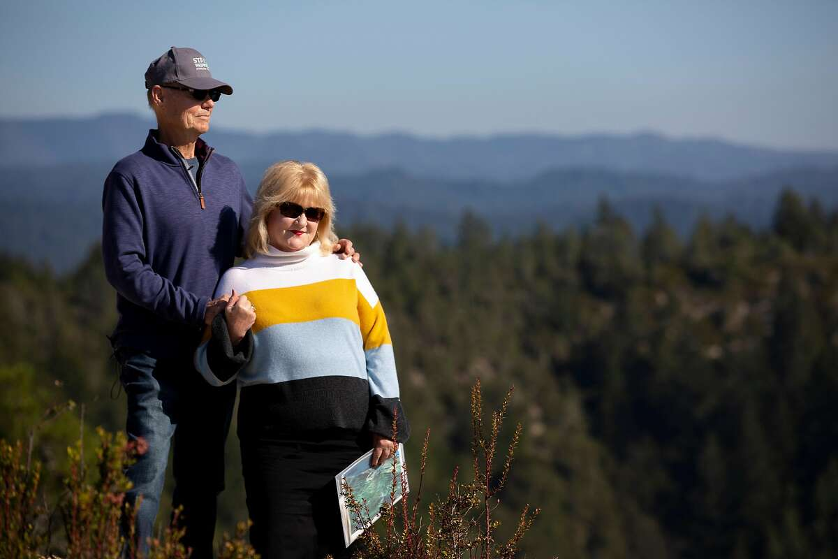 From left: Cascade Ranch land owners Larry Holmes and Bronia Holmes on Friday, Nov. 8, 2019, in Pescadero, Calif.