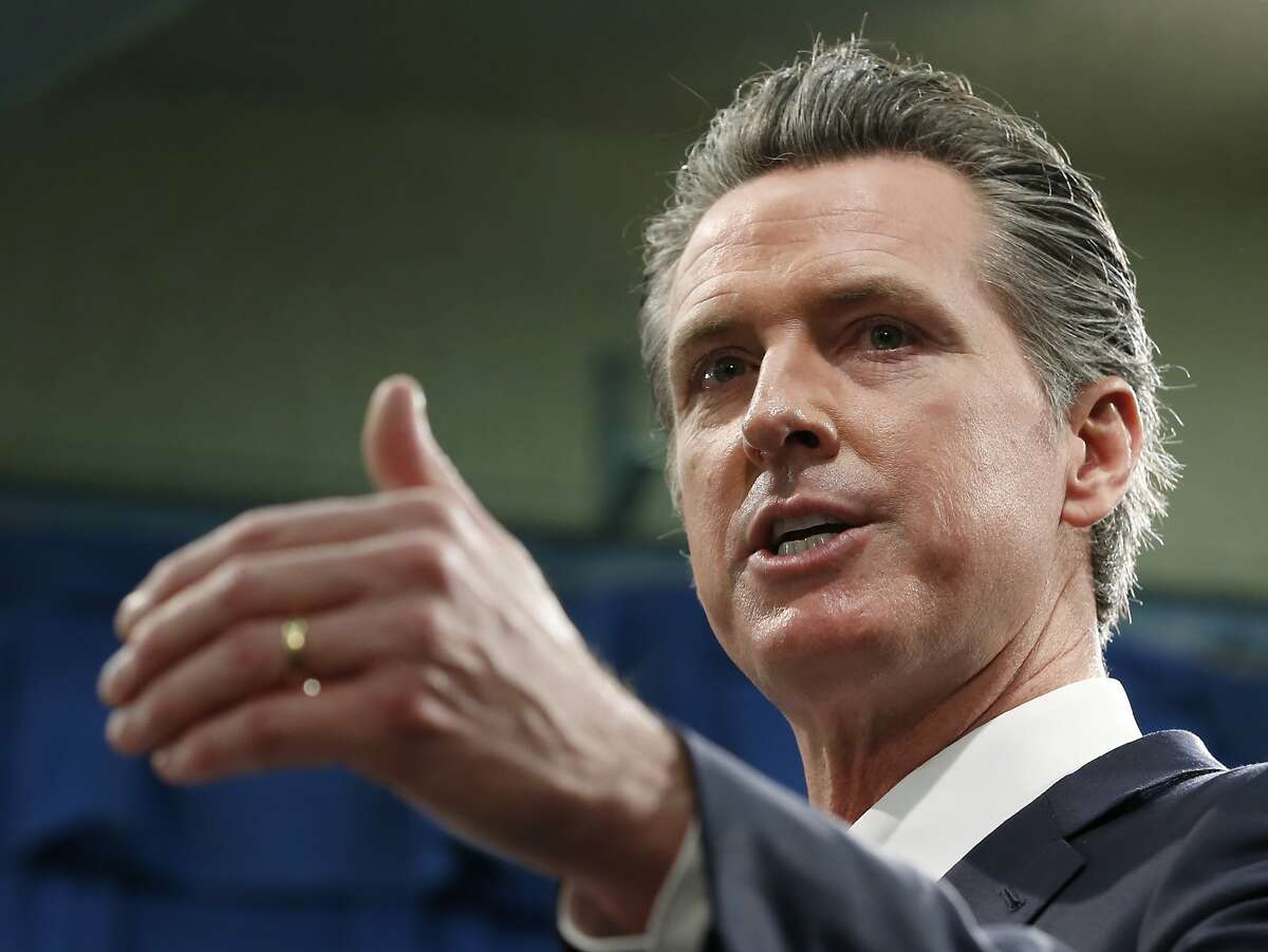 File - In this Jan. 10, 2020, file photo, California Gov. Gavin Newsom responds to reporters question during a news conference in Sacramento, Calif.