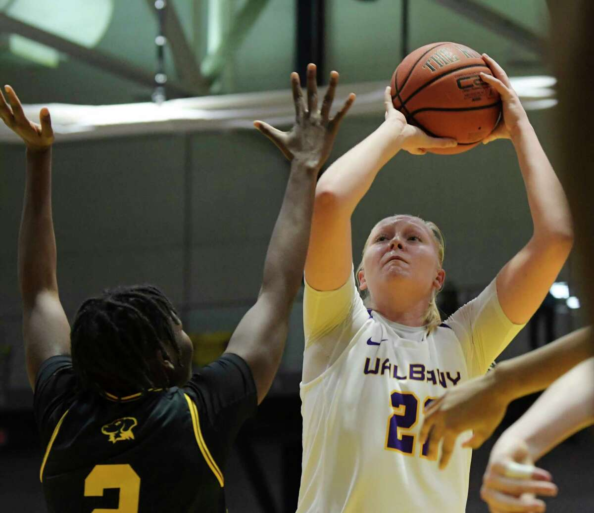 UAlbany's Helene Haegerstrand was selected to the America East all-conference third team. (Paul Buckowski/Times Union)