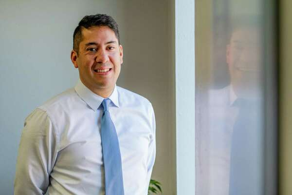 Gradiant Energy Services CEO Danny Jimenez poses for a portrait at Gradiant's Denver offices on January 24, 2020 in Denver, Colo.
