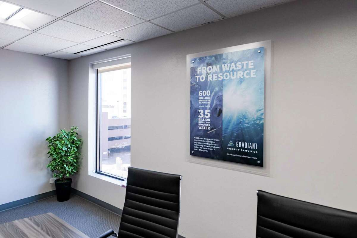 The Denver office of Gradiant Energy Services is pictured on January 24, 2020 in Denver, Colo.