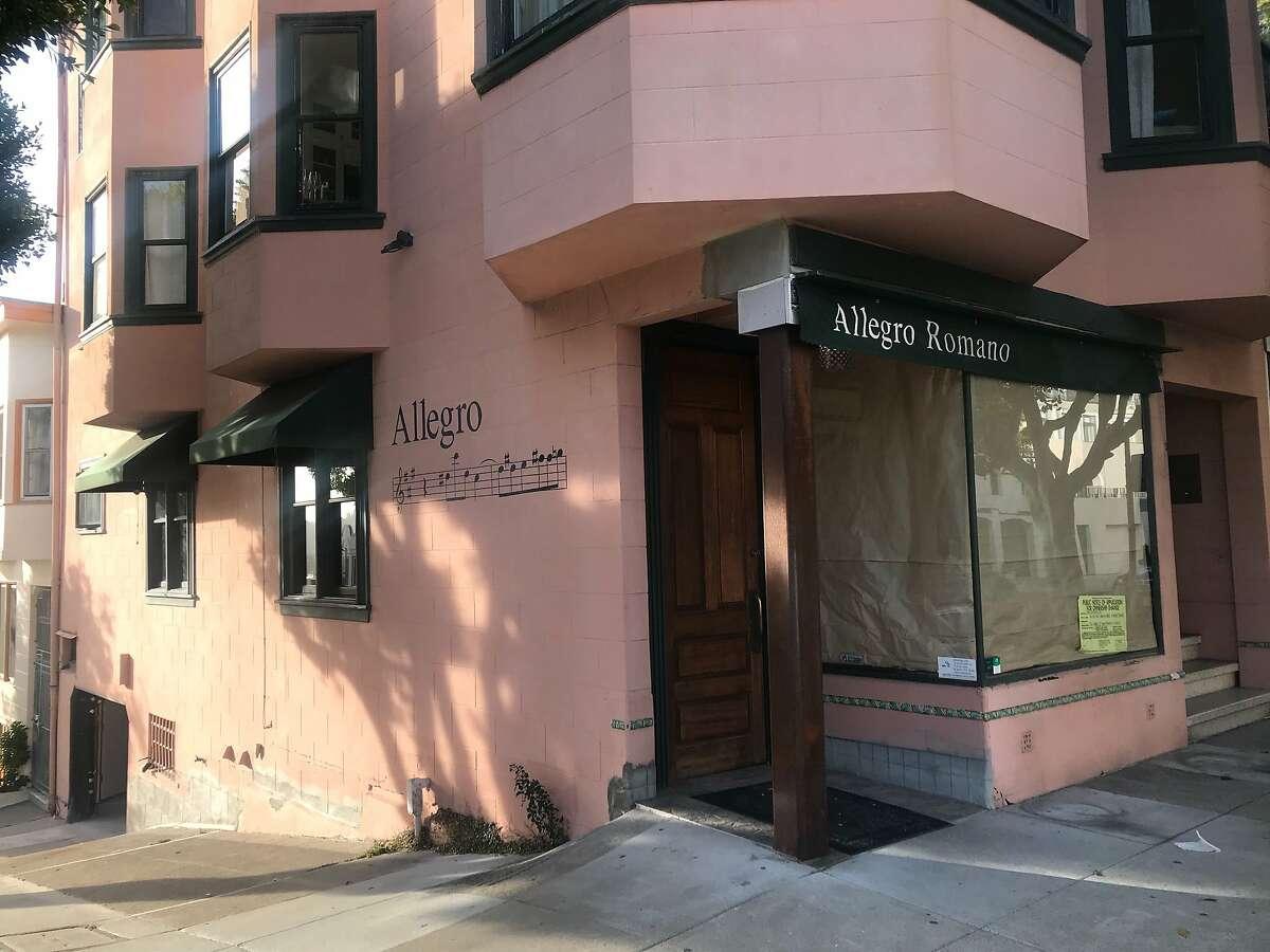Allegro Romano in Russian Hill has closed.