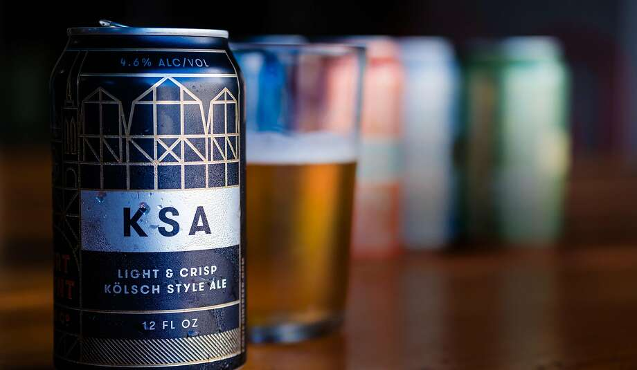 KSA, or Kolsch-style ale, is Fort Point Beer Co.'s signature beer. Photo: Nick Otto / Special To The Chronicle