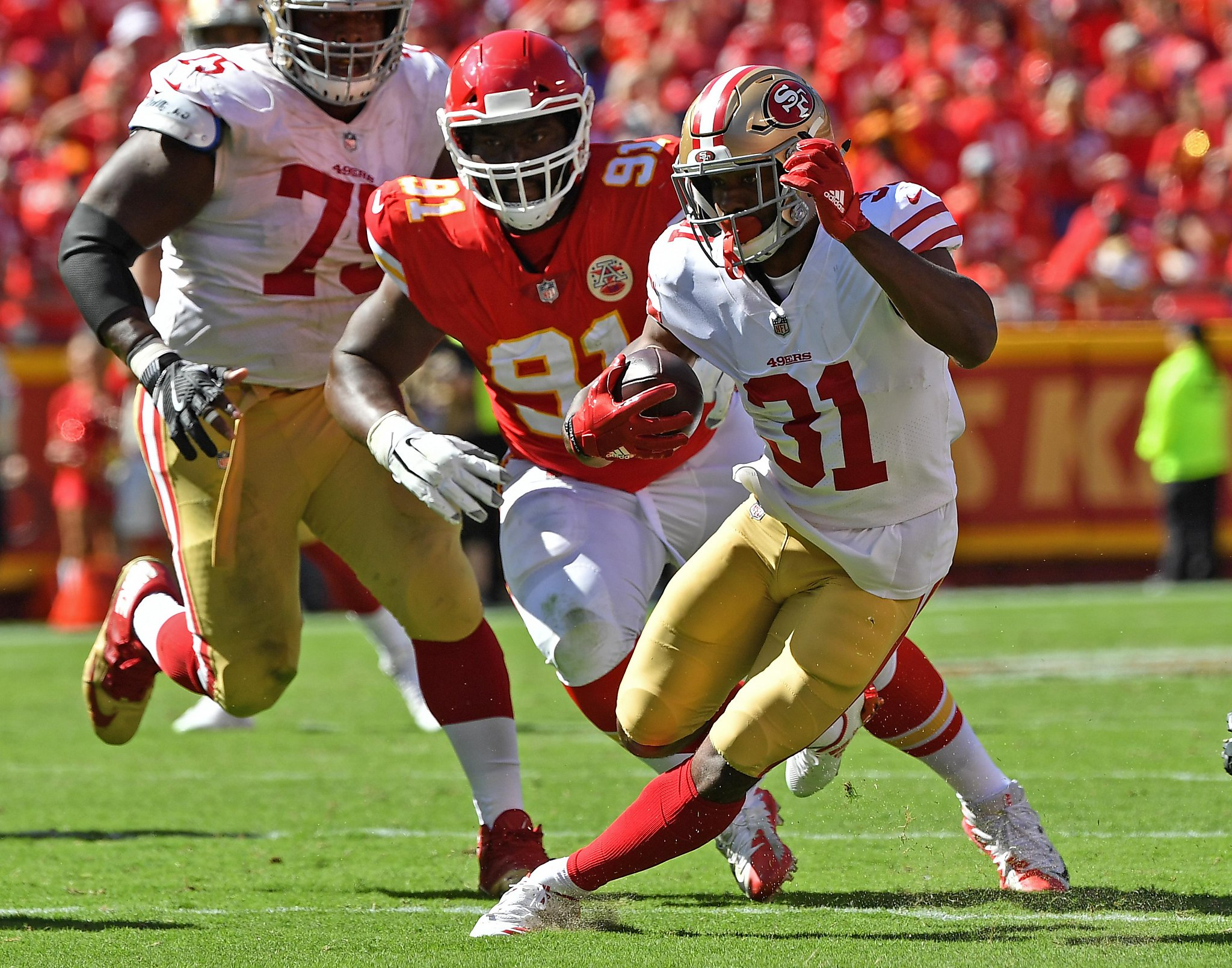 49ers' Raheem Mostert overcame childhood trauma: 'I'm here for a reason'