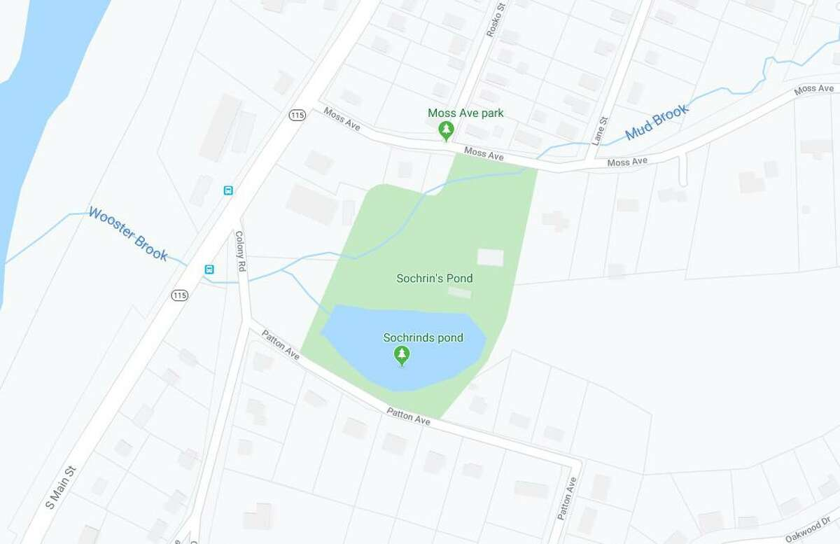 A Google Maps screenshot of the park and the surrounding area in Seymour, Conn.