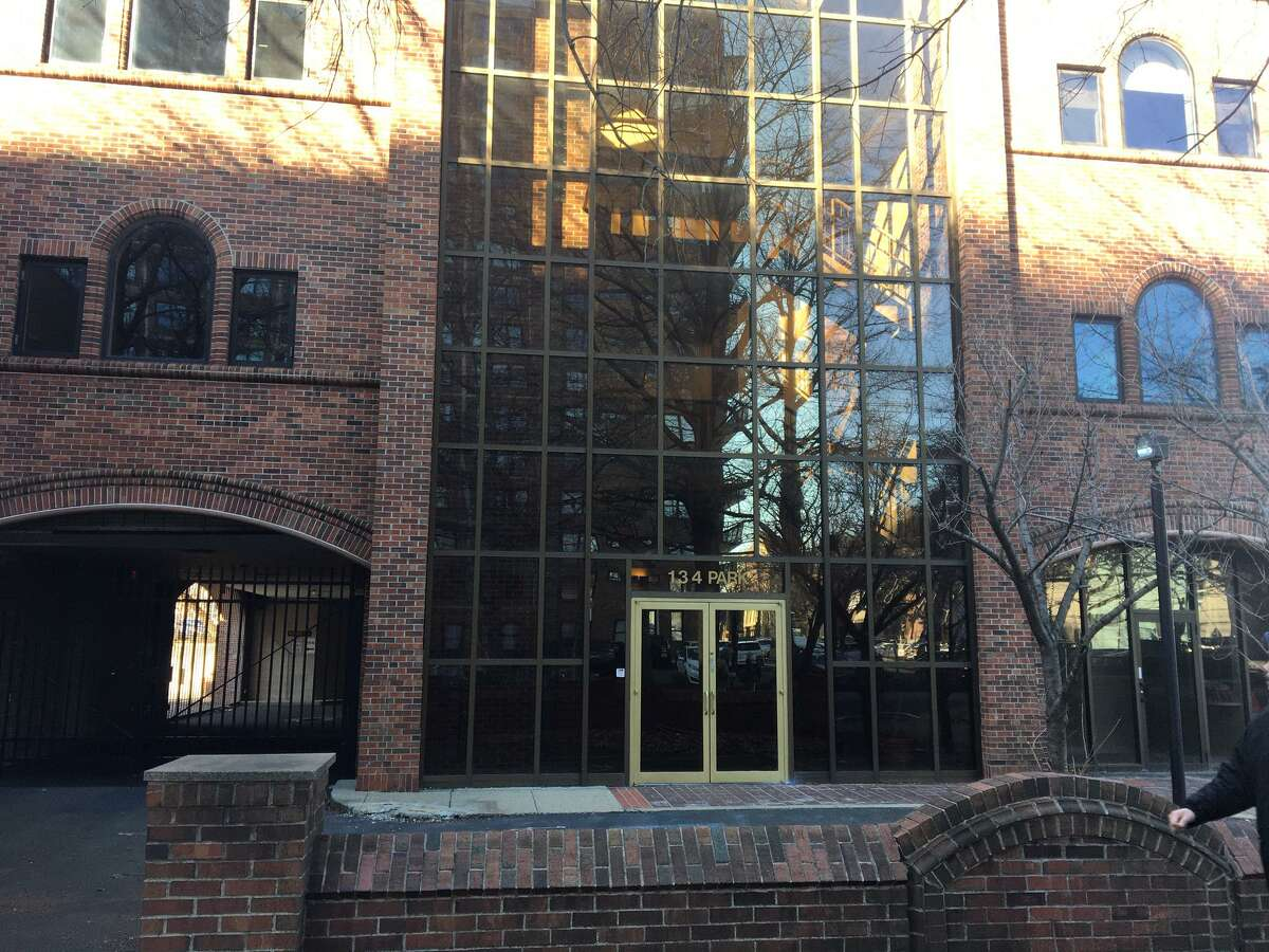 The Ronald Savin Center in New Haven will be razed as part of land needed for a proposed hotel