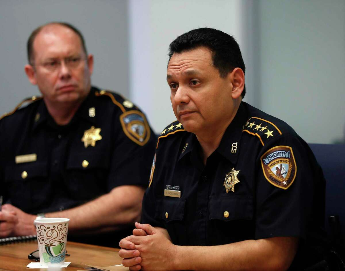 Sheriff Ed Gonzales speaks to the Houston Chronicle editorial board, Monday, Feb. 4, 2019, in Houston .