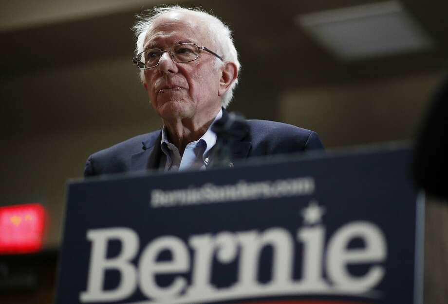Democratic presidential candidate Sen. Bernie Sanders, I-Vt., speaks at a campaign event Sunday, Jan. 26, 2020, in Storm Lake, Iowa. (AP Photo/John Locher) Photo: John Locher, Associated Press
