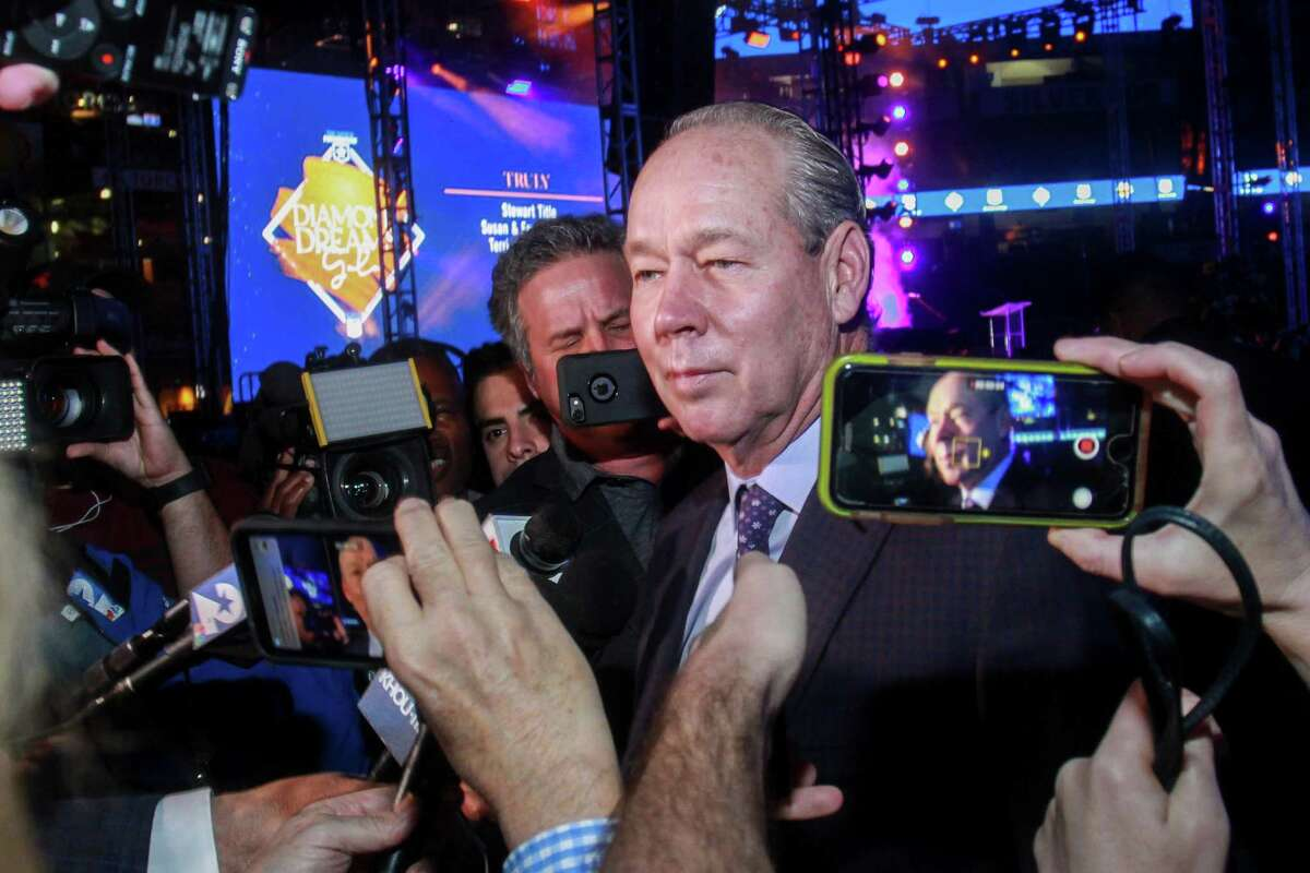 In the process of searching for a manager and GM, Astros owner Jim Crane has frequently found himself addressing the media, as he did at the Astros Foundation's Diamond Dreams gala at Minute Maid Park on Jan. 17.