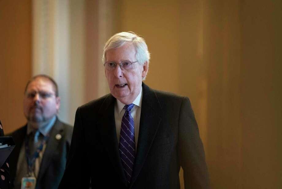 El líder de la mayoría republicana en el Senado, Mitch McConnell, en el Capitolio en Washington el 29 de enero del 2020. Photo: J. Scott Applewhite /Associated Press / Copyright 2020 The Associated Press. All rights reserved