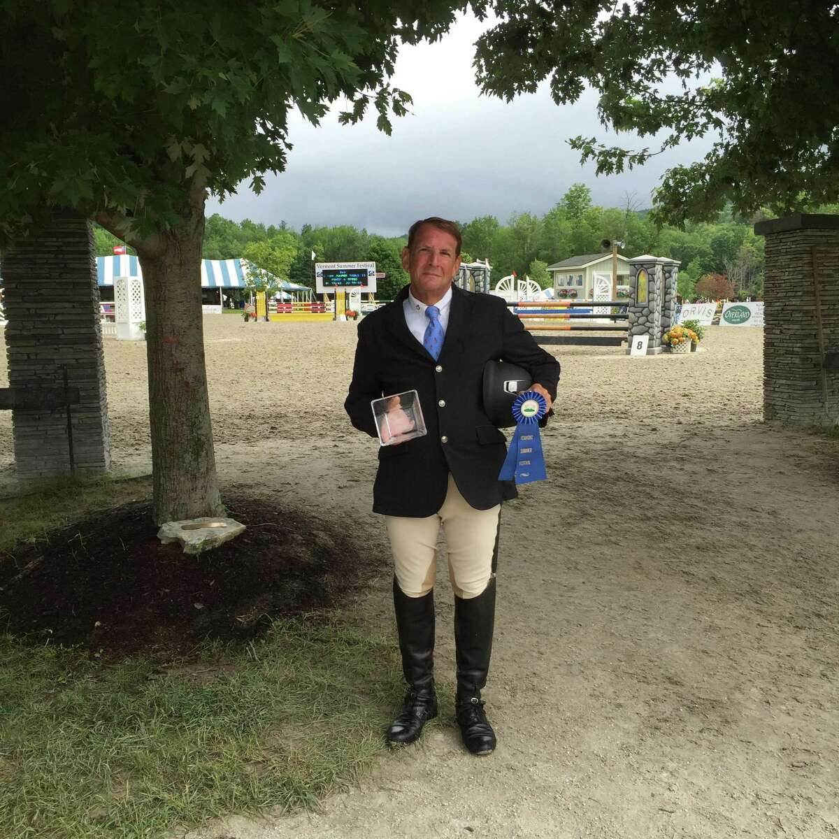 Westport's Bob Rose and Stepping Stone Farm's Rocky recently won the2019 Championship ribbons of both the Child / Adult Jumper Division and the Low Training Jumper division of the Fairfield Westchester Professional Horsemen's Association.