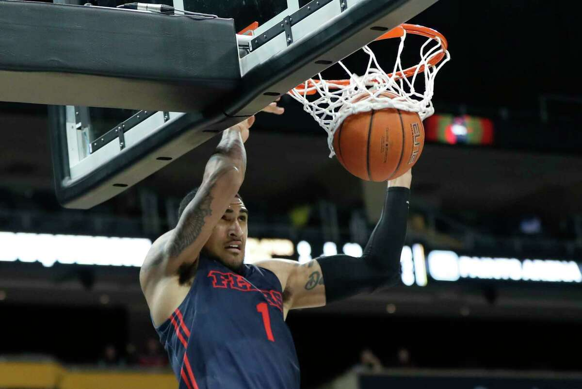 Dayton's Obi Toppin dunks against Duquesne during the second half of an NCAA college basketball game Wednesday, Jan. 29, 2020, in Pittsburgh. Dayton won 73-69. (AP Photo/Keith Srakocic)