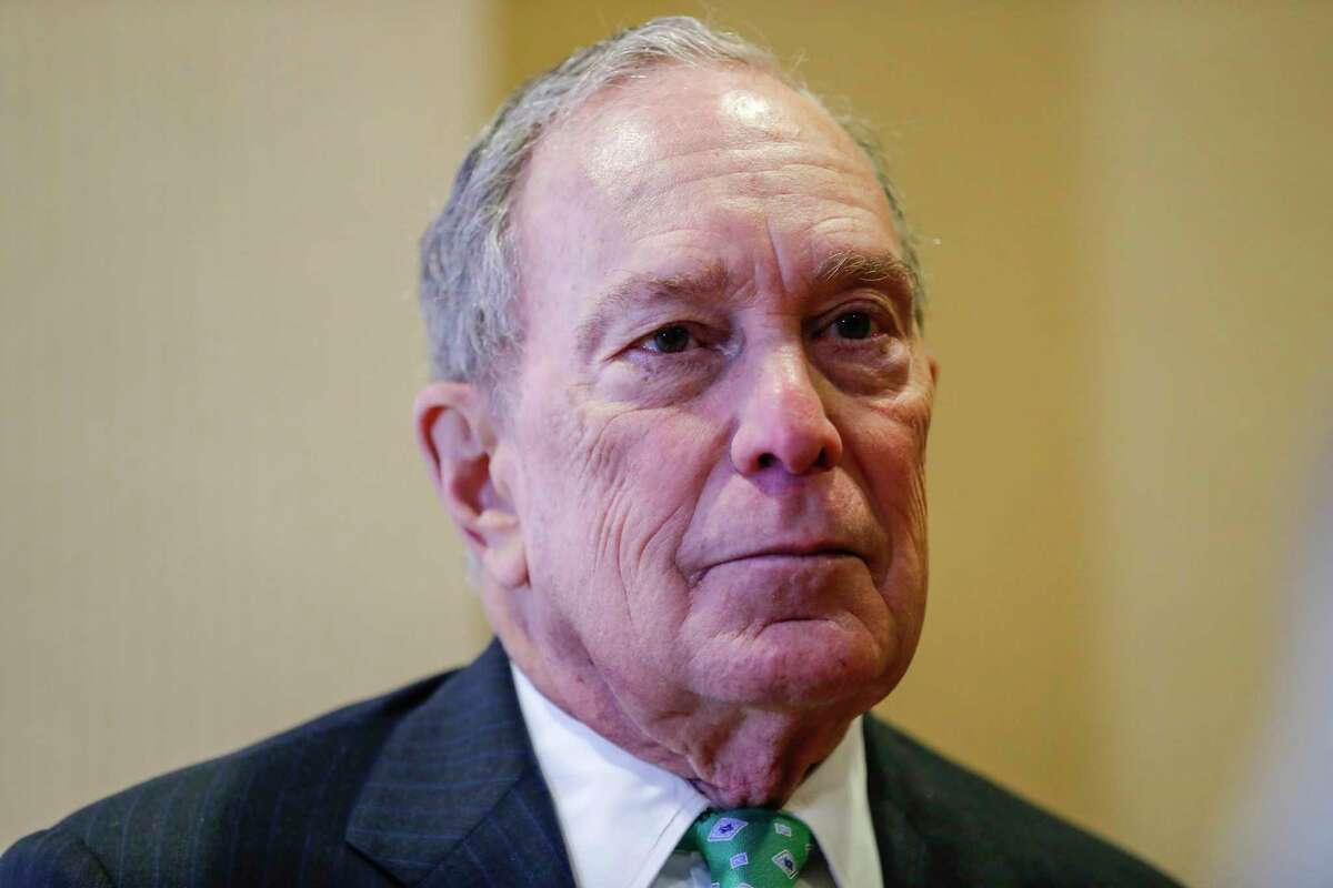 Presidential candidate Mike Bloomberg speaks at the Women's Missionary Society African Methodist Episcopal Church convention at the Hilton North Houston Hotel, in Houston, Wednesday, Jan. 29, 2020.
