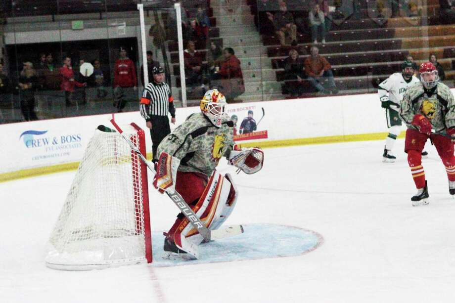 Roni Salmenkangas allowed only three goals against Michigan Tech in two games last weekend. (Pioneer file photo)