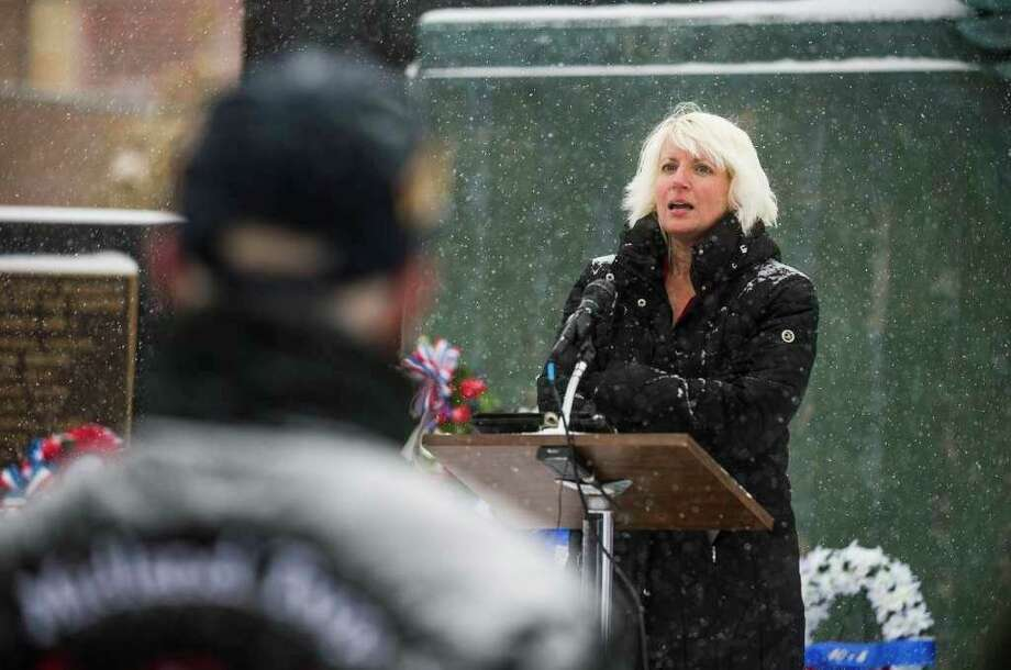 Rep. Annette Glenn, R-Midland, spoke last year during the Veterans Day ceremony at the Midland Veterans Memorial. (Photo provided)