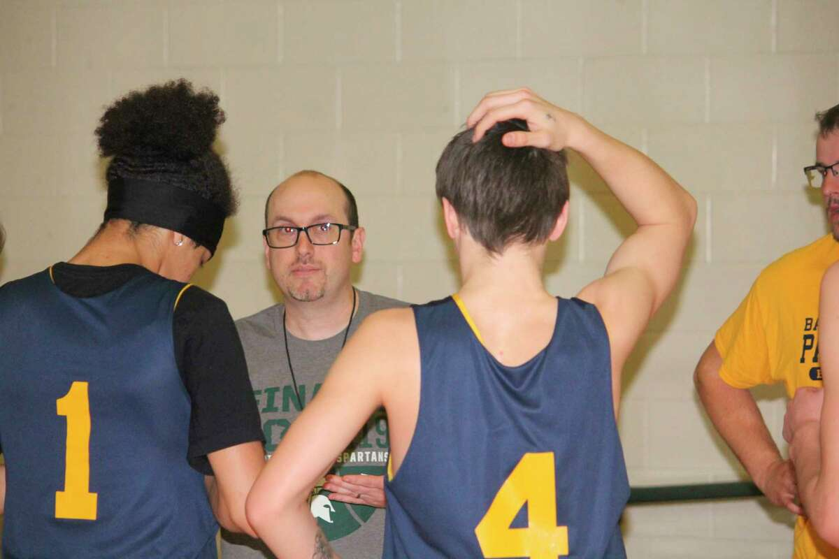 Baldwin coach JJ Eads talks with his players after a Monday practice. (Star photo/John Raffel)